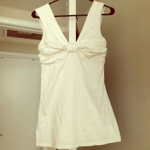 Express White Bow Top Style Shirt